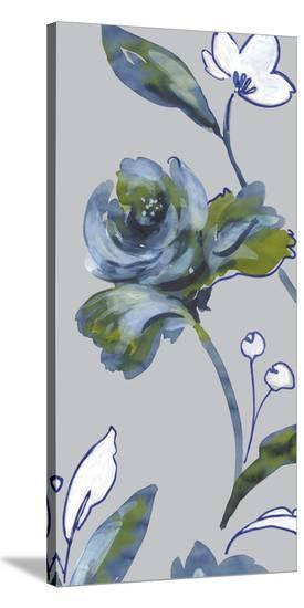 Midnight Floral II-Sandra Jacobs-Stretched Canvas Print