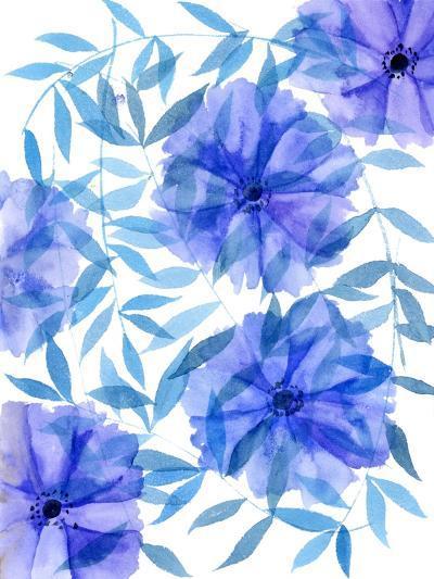 Midnight Flowers I-Melissa Wang-Art Print