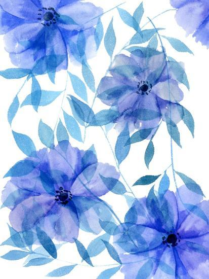 Midnight Flowers II-Melissa Wang-Art Print