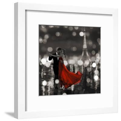 Midnight in Paris (BW)-Dianne Loumer-Framed Giclee Print