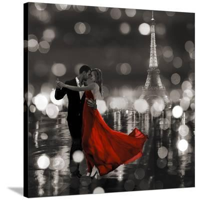 Midnight in Paris (BW)-Dianne Loumer-Stretched Canvas Print