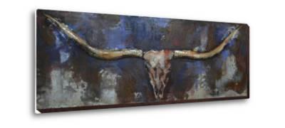 Midnight Longhorn - Dimensional Metal Wall Art