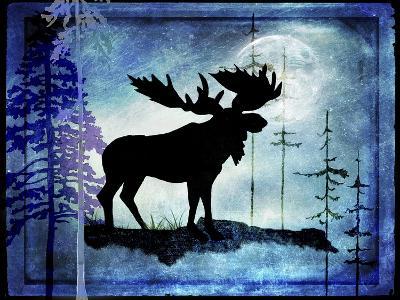 Midnight Moose-LightBoxJournal-Giclee Print