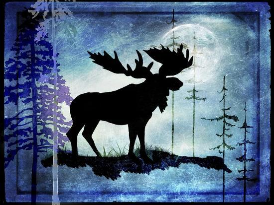 Midnight Moose-LightBoxJournal-Giclee Print