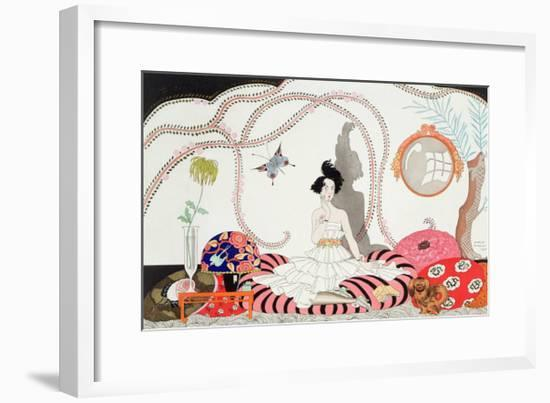Midnight! or the Fashionable Apartment, 1920-Georges Barbier-Framed Giclee Print