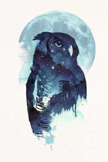 Midnight Owl-Robert Farkas-Giclee Print