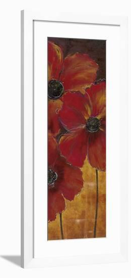 Midnight Poppy II-Richard Henson-Framed Art Print