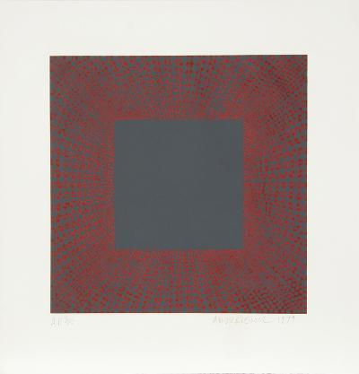 Midnight Suite (Red over Gray)-Richard Anuszkiewicz-Limited Edition