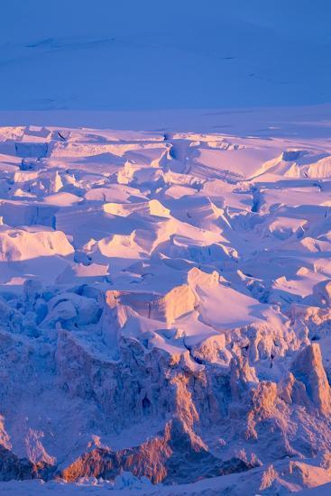 Midnight Sun Lights Glacier, Antarctica-Paul Souders-Photographic Print