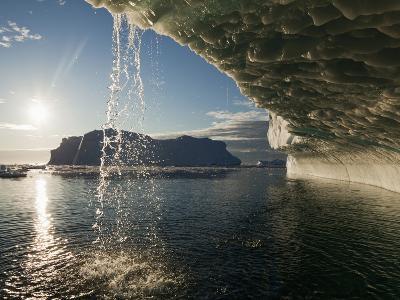 Midnight Sun Lights Iceberg, Jakobshavn Glacier, Disko Bay, Ilulissat, Greenland-Paul Souders-Photographic Print