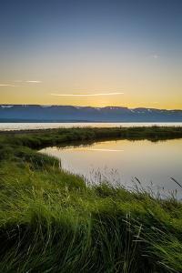 Midnight Sun over Eyjafjordur, Akureyri, Iceland