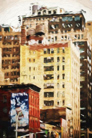 Midtown Buildings - In the Style of Oil Painting-Philippe Hugonnard-Giclee Print