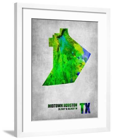 Midtown Houston Texas-NaxArt-Framed Art Print