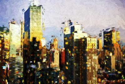 Midtown Manhattan II - In the Style of Oil Painting-Philippe Hugonnard-Giclee Print