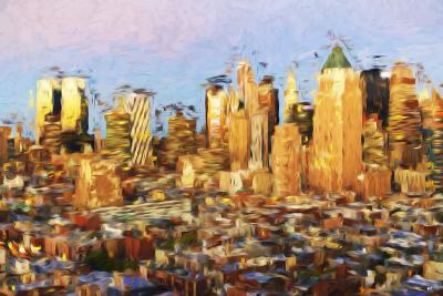 Midtown Manhattan - In the Style of Oil Painting-Philippe Hugonnard-Giclee Print