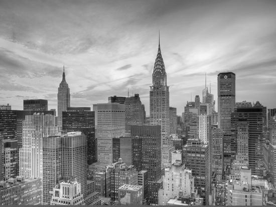Midtown Skyline with Chrysler Building and Empire State Building, Manhattan, New York City, USA-Jon Arnold-Photographic Print