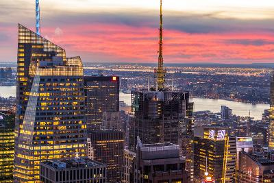 Midtown Skyline with Empire State Building from the Rockefeller Center, Manhattan, New York City-ClickAlps-Photographic Print
