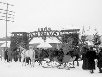 Midwinter Carnival, Entrance to Pontiac Rink, Upper Saranac Lake, N.Y.--Photo