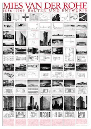 Planned and Unfinished Buildings by Mies Van Der Rohe