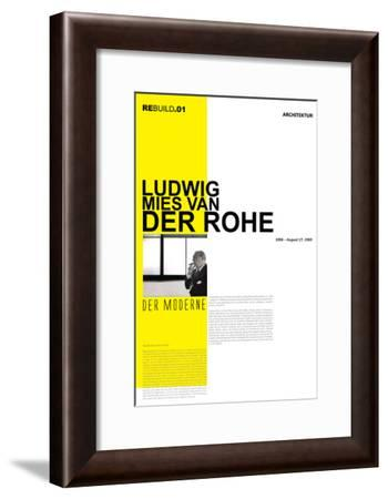 Mies Van Der Rohe Poster-NaxArt-Framed Art Print