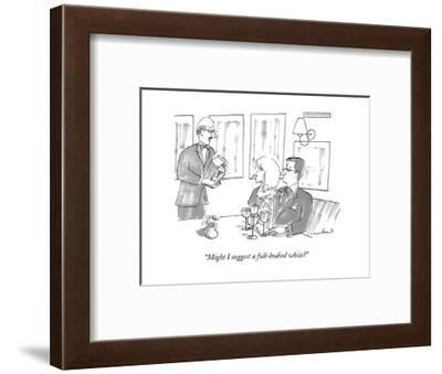 """""""Might I suggest a full-bodied white?"""" - New Yorker Cartoon--Framed Premium Giclee Print"""