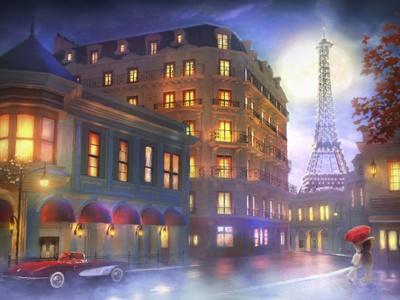 Mightnight in Paris-Joel Christopher Payne-Giclee Print