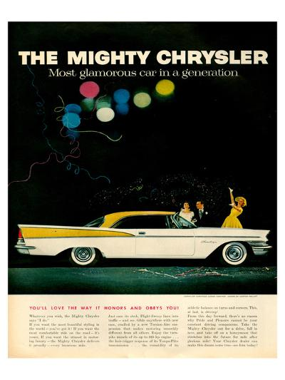 Mighty Chrysler Saratoga--Art Print