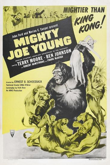 MIGHTY JOE YOUNG, US poster, Terry Moore, Mighty Joe Young, 1949--Art Print