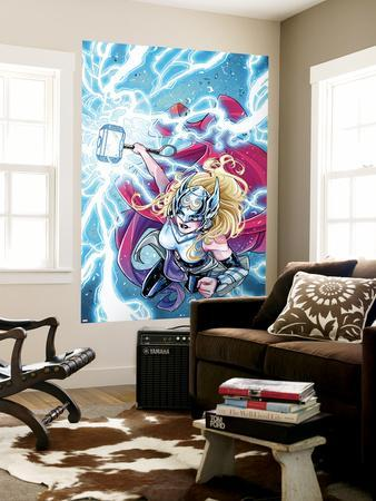 Mighty Thor No. 5 Cover Featuring Thor (Female)-Laura Braga-Wall Mural