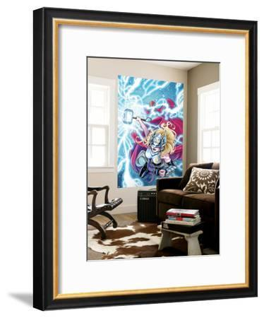 Mighty Thor No. 5 Cover Featuring Thor (Female)-Laura Braga-Framed Giclee Print