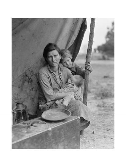 Migrant Agricultural Worker's Family-Dorothea Lange-Art Print