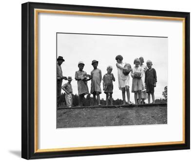Migrant Families, 1936-Dorothea Lange-Framed Giclee Print
