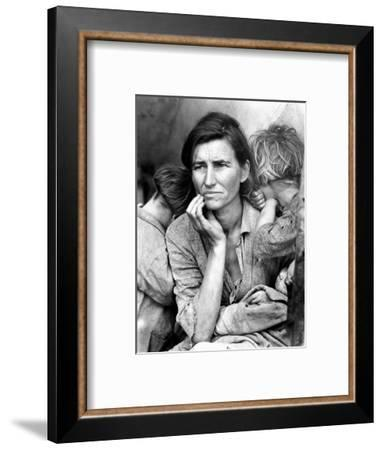 Migrant Mother, 1936.-Dorothea Lange-Framed Photographic Print
