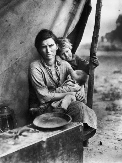 Migrant Mother Florence Thompson and Children Photographed by Dorothea Lange-Dorothea Lange-Photographic Print