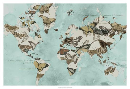 Migration of Butterflies-Jennifer Goldberger-Art Print