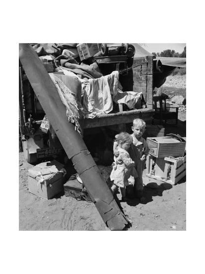 """Migratory Children Living in """"Rambler's Park.""""-Dorothea Lange-Art Print"""