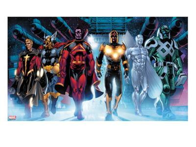 The Thanos Imperative No.3: Quasar, Beta-Ray Bill, Gladiator, Nova, SilverSurfer, Ronan the Accuser by Miguel Angel Sepulveda