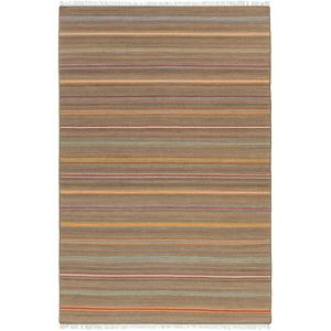 Miguel Area Rug - Taupe/Burgundy 5' x 7'6""