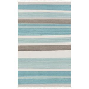 Miguel Area Rug - Teal/Charcoal 5' x 7'6""