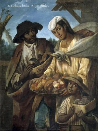 Casta Paintings, Mixed Race Family in Mexico