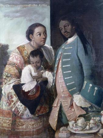 Mestizaje: de Chino Cambujo E India: Loba, 1763, Museo de América, Madrid
