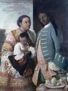 Mestizaje: de Chino Cambujo E India: Loba, 1763, Museo de América, Madrid by Miguel Cabrera