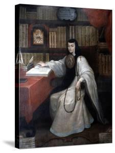 Portrait of Sor Juana Ines De La Cruz, 1750 by Miguel Cabrera