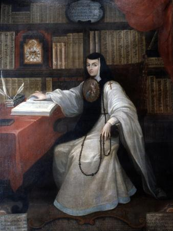 Portrait of Sor Juana Ines De La Cruz, 1750