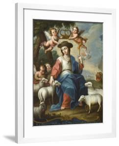 The Divine Shepherdess (La Divina Pastora), c.1760 by Miguel Cabrera