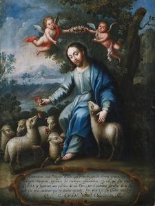 The Good Shepherd, El Buen Pastor, 1765 by Miguel Cabrera