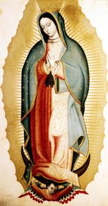 The Virgin of Guadalupe, Museo de America, Madrid, Spain by Miguel Cabrera