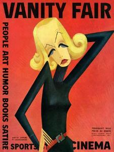 Vanity Fair Cover - February 1932 by Miguel Covarrubias