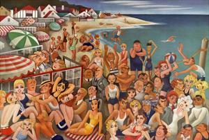 Vanity Fair - September 1933 - Hollywood's Malibu Beach scene by Miguel Covarrubias