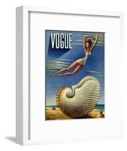 Vogue Cover - July 1937 - Surreal Shell by Miguel Covarrubias